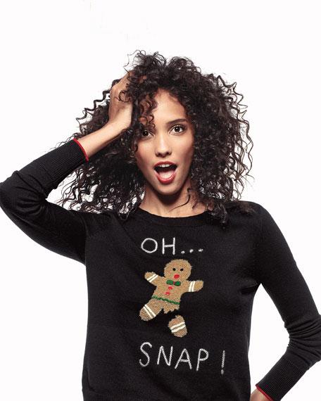 Lisa Todd Oh Snap Gingerbread Man Holiday Sweater
