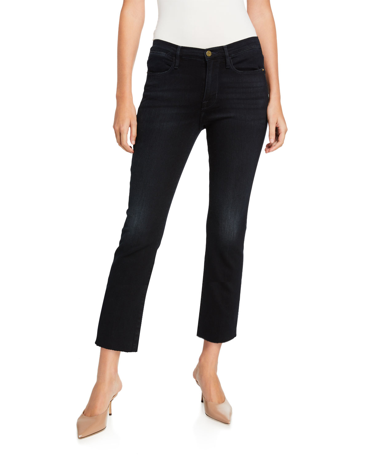 le-high-straight-cropped-jeans by frame