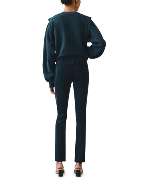 AGOLDE Nico High-Rise Velvet Boot-Cut Jeans