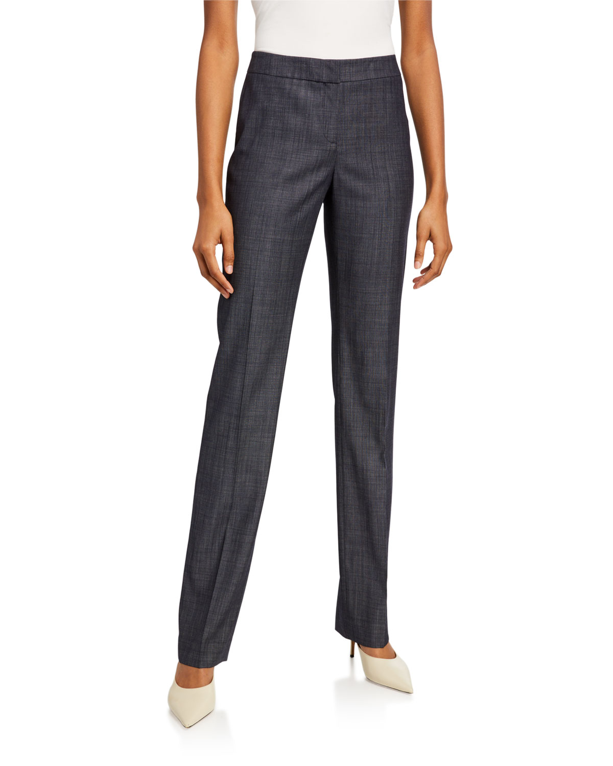 Lafayette 148 New York Barrow Fusion Suiting Straight-Leg Pants