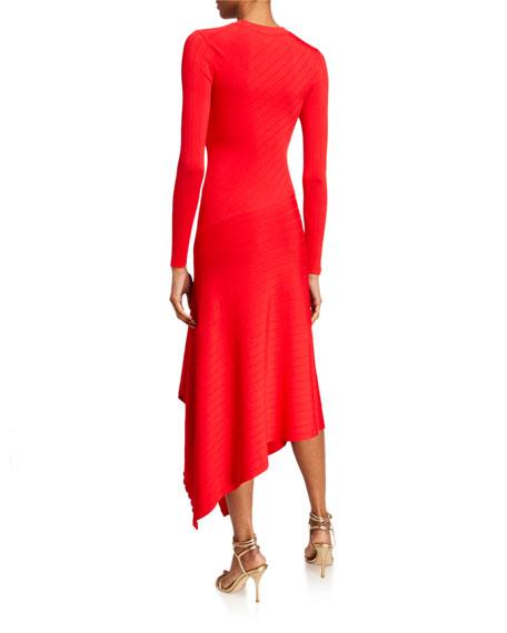A.L.C. Viviana Asymmetrical Long-Sleeve Dress