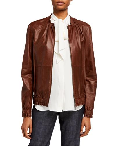 Rylan Zip Front Supple Napa Leather Jacket