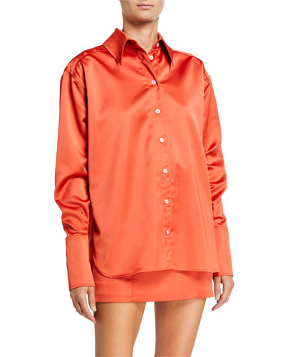 Palermo Satin Oversized Shirt