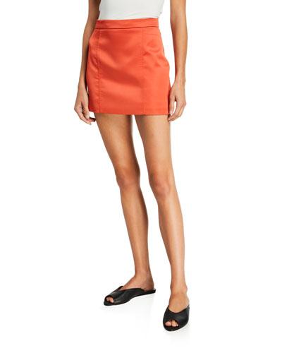 Tuscany Satin Mini Skirt
