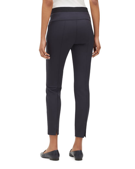 Lafayette 148 New York Tribeca Acclaimed Stretch Pintucked Skinny-Leg Pants
