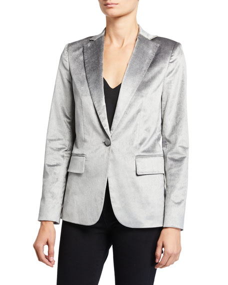 FRAME Velvet Classic Single-Button Blazer