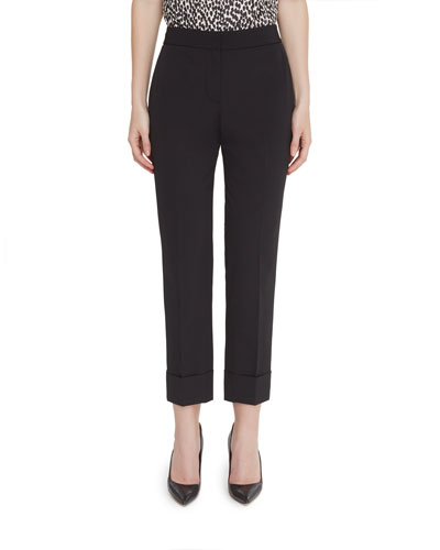 Reva-B Cuffed Easy Care Ankle Pants
