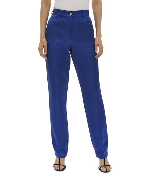 Helmut Lang Pants Satin Straight-Leg Pants