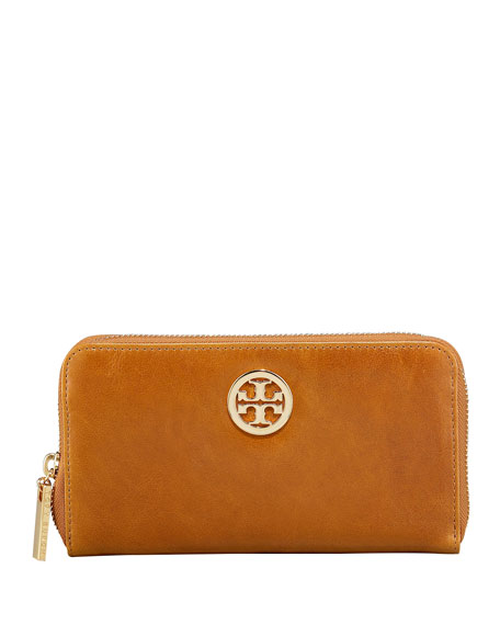 Leather Continental Zip Wallet