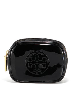 Tory Burch Patent Cosmetic Case, Small