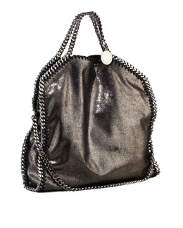 Stella McCartney Falabella Small Fold-Over Tote Bag, Ruthemium