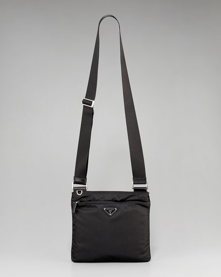 Nylon Flat Crossbody