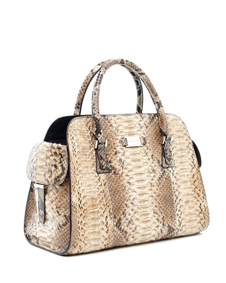 michael kors gia python satchel. Black Bedroom Furniture Sets. Home Design Ideas