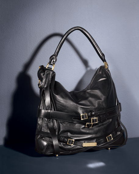 Leather Hobo, Medium