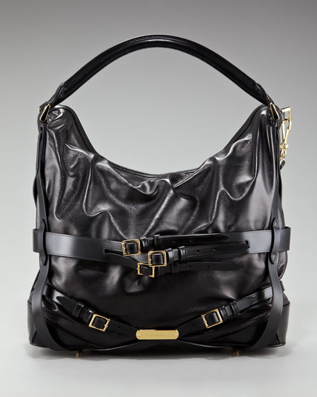 Leather Hobo, Medium