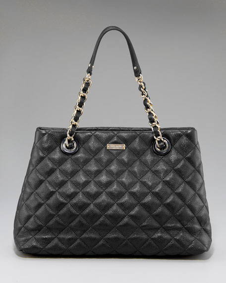 maryanne quilted shoulder bag