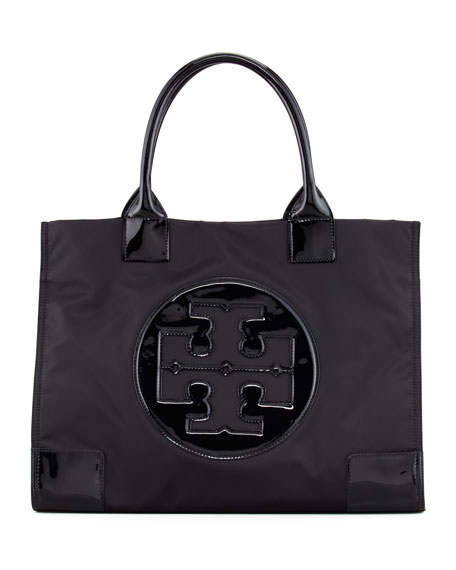 Tory Burch Ella Nylon & Leather Tote Buy Cheap Release Dates Sale Big Sale View For Sale Huge Range Of How Much Online DftjS
