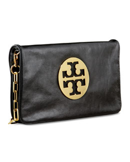 Tory Burch Reva Glazed Leather Clutch