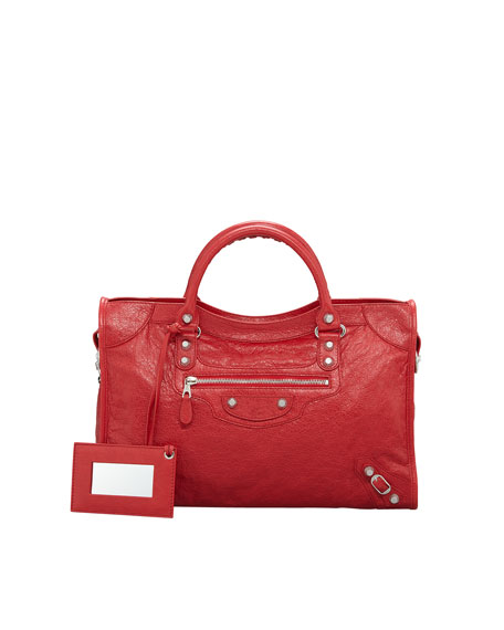 Balenciaga Giant 12 Nickel City Bag, Coquelicot/Rouge