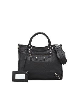 Balenciaga Giant 12 Nickel Velo Bag, Black