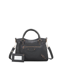 Balenciaga Giant 12 Rose Golden Town Bag, Anthracite