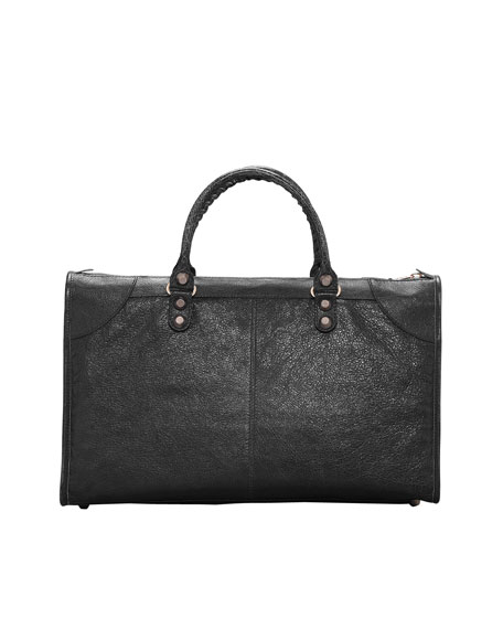 Giant 12 Rose Golden Work Bag, Black