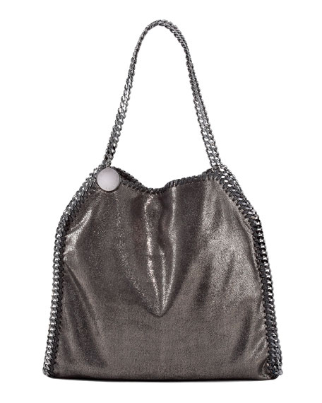 Falabella Small Tote, Ruthenium