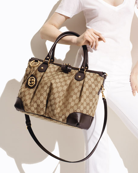 c8787c5f1745 Gucci Sukey Large Top Handle Bag, Cocoa or Black