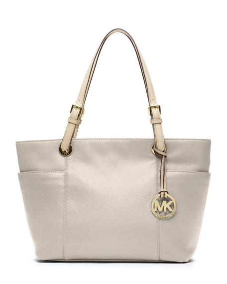 Jet Set Zip-Top Tote, Vanilla