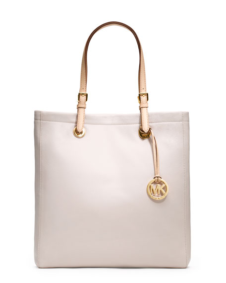 Leather Tote, Vanilla White