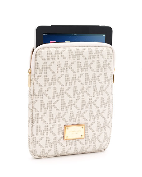 Logo iPad Case, Vanilla or Brown