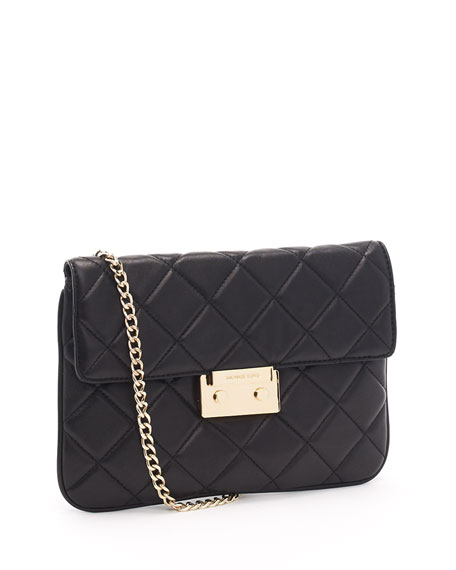 Sloan Quilted Clutch,  Black