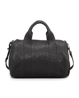 Alexander Wang Rocco Stud-Bottom Satchel Bag, Black/Nickel