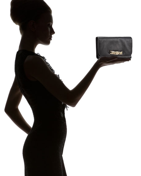 Katie Bracelet Clutch, Black