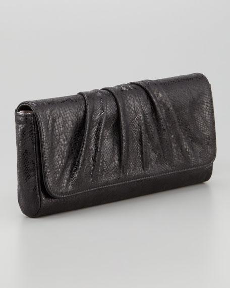 Caroline Glossy Python Clutch Bag