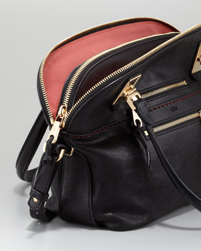 Chloe Angie Large Shoulder Bag Black 73