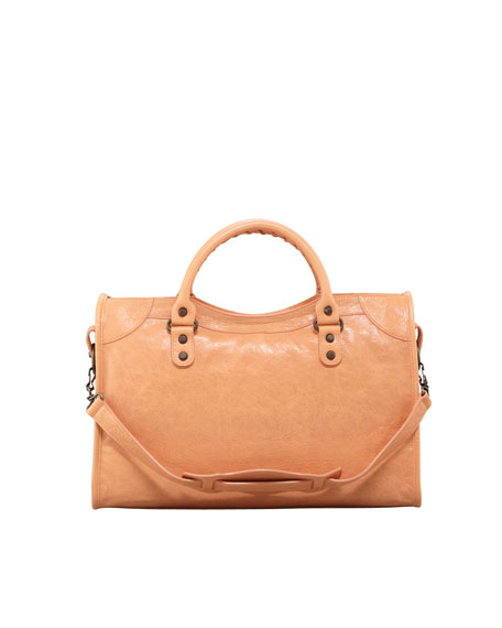 a87b3743e88 Balenciaga Classic City Bag, Rose Blush