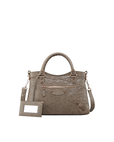 Giant 12 Rose Golden Town Bag, Gris Poivre