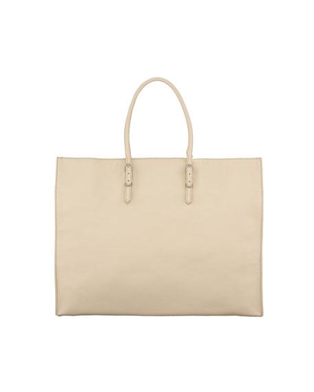 Papier A4 Leather Tote Bag, Sable