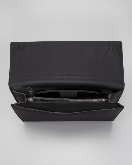 Papier Landscape Clutch Bag, Black