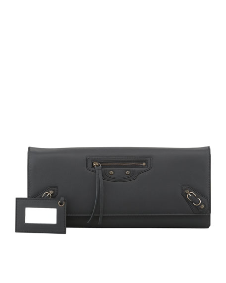 Papier Landscape Clutch Bag, Black