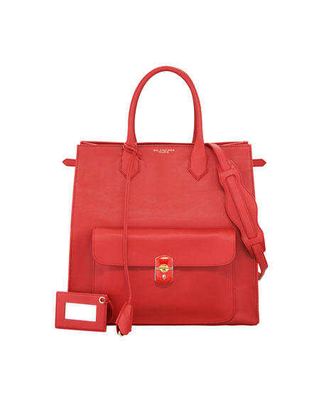 Padlock All Time Tote Bag, Coquelicot