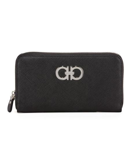Gancini Icona Saffiano Zip Wallet
