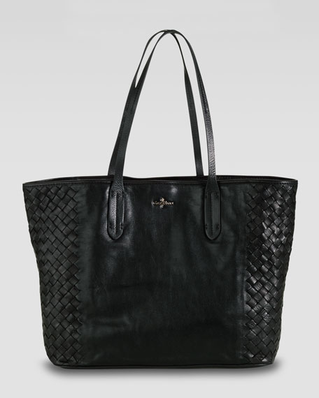 Victoria Woven-Side Tote Bag