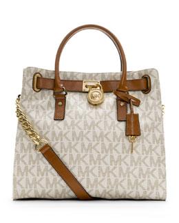 MICHAEL Michael Kors  Hamilton Large Tote Bag, Vanilla