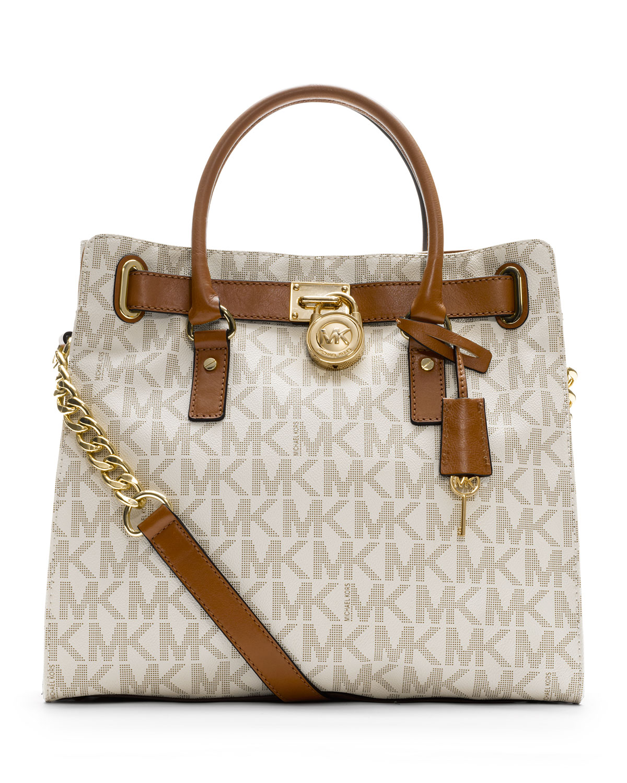 6b1f28efbfd1 MICHAEL Michael Kors Hamilton Large Tote Bag, Vanilla | Neiman Marcus