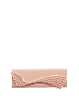 Christian Louboutin Pigalle Patent Spike Clutch Bag