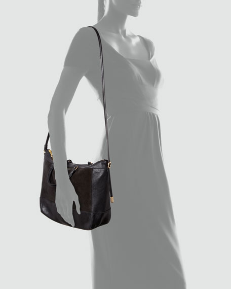 Ambre Suede Double-Function Tote Bag