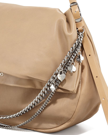 Biker Chain-Detailed Hobo Bag