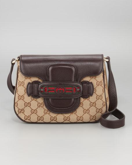 Dressage GG Flap Shoulder Bag, Medium